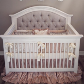 Nikki Custom tufted convertible crib