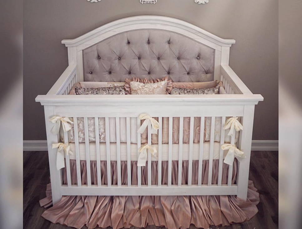 Nikki Custom Tufted Convertible Crib - Kids Furniture In Los Angeles
