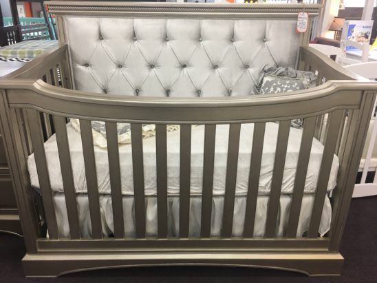 Royalton Custom Tufted lifetime convertible crib