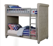 alexo twin over twin upholstered bunk bed