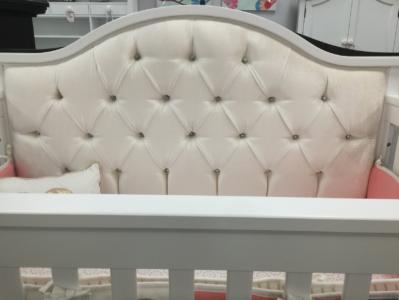 bellina custom tufted crib with crystals