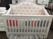 bellina custom tufted lifetime convertible crib