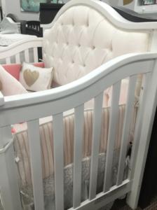 bellina tufted crib in white