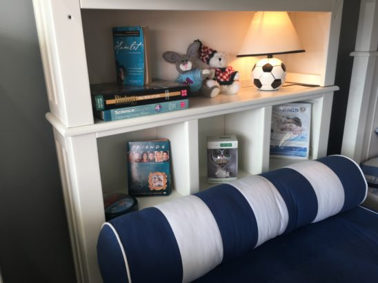 campground bookcase headboard for bunk bed