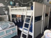 campground twin over twin bookcase bunk bed