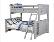 crestline twin over full bunk bed in gray