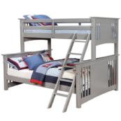 crestline twin xl over queen bunk bed in gray