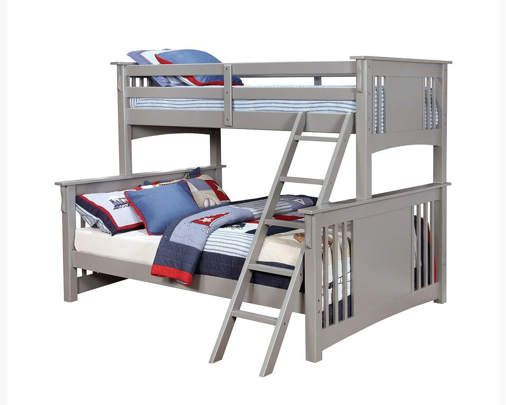 Crestline Twin Xl Over Queen Bunk Bed In Gray Kids Furniture In
