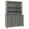 dolce babi lucca dresser with hutch in grey