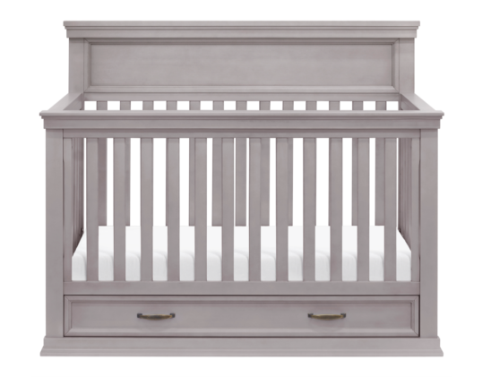 langford crib in grey