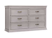 mdb langford 6 drawer dresser in grey