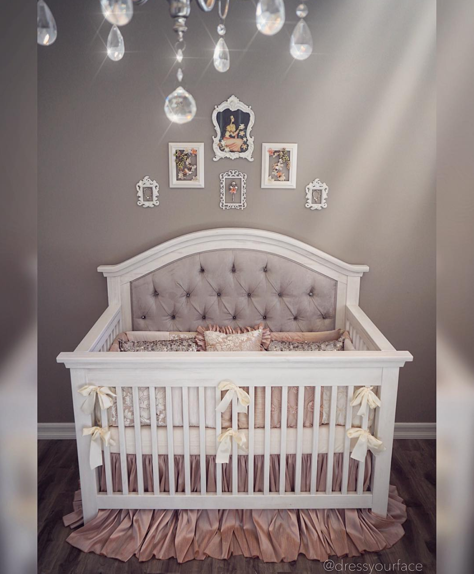Nikki Custom Tufted Convertible Crib Kids Furniture In