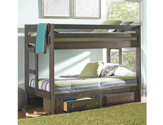rusty twin over twin bunk bed