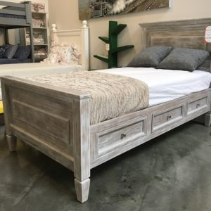 Porter rustic finish twin bed