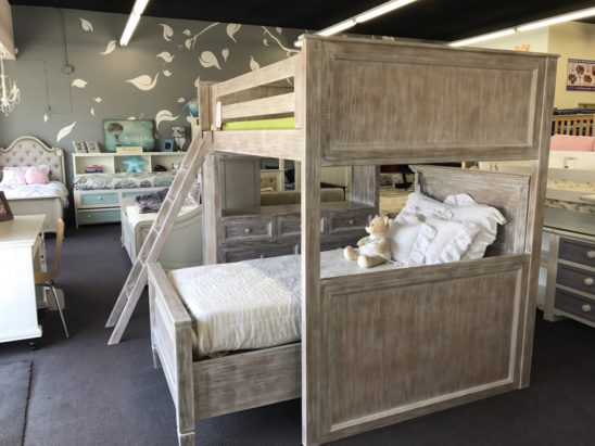 porter full size loft bed with dresser
