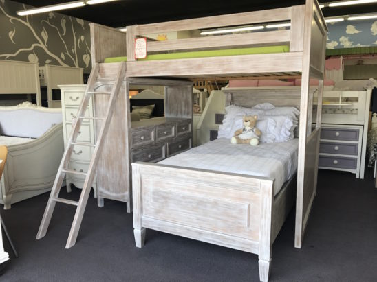 porter rustic full size loft bed with dresser