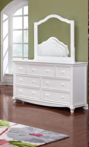 Adriana Double Dresser in White Room Photo
