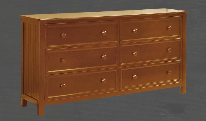 Autumn 6 Drawer Dresser White Rustic Pecan Amp Espresso