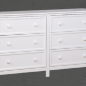 Autumn 6 Drawer Dresser in White