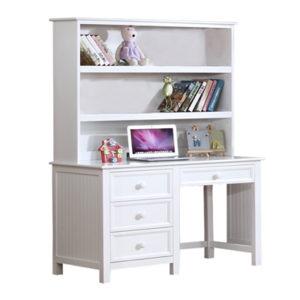 Autumn Desk with Hutch in White