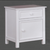 Autumn Nightstand in White