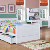 Beadboard Full Bed Collection White