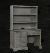 Charlie Desk and Hutch in Weathered Grey