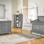 Dolce Babi Naples Full Panel Crib in Nantucket Grey