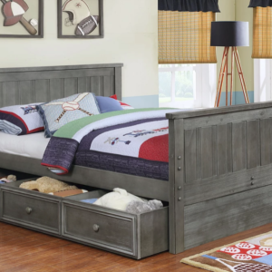 Jackson Full Size Bed with Trundle in Weathered Grey