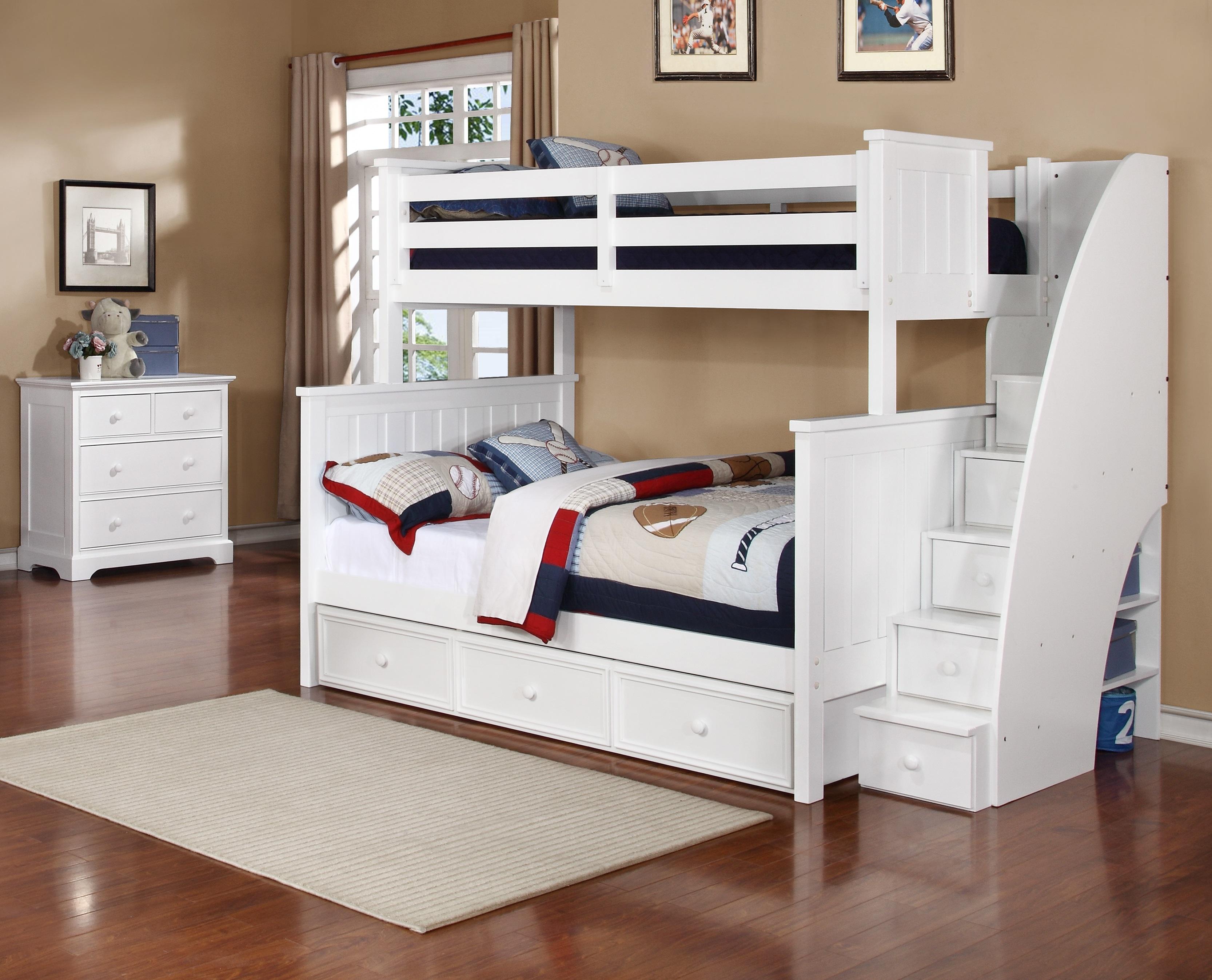 Jackson Twin Over Full Bunk Bed White Espresso Rustic