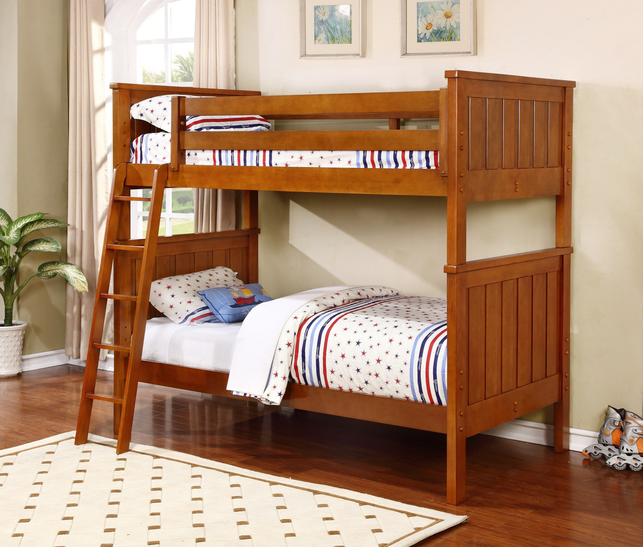 Jackson twin over twin bunk bed