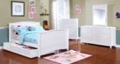 Sydney Full Bed with Sydney Collection White