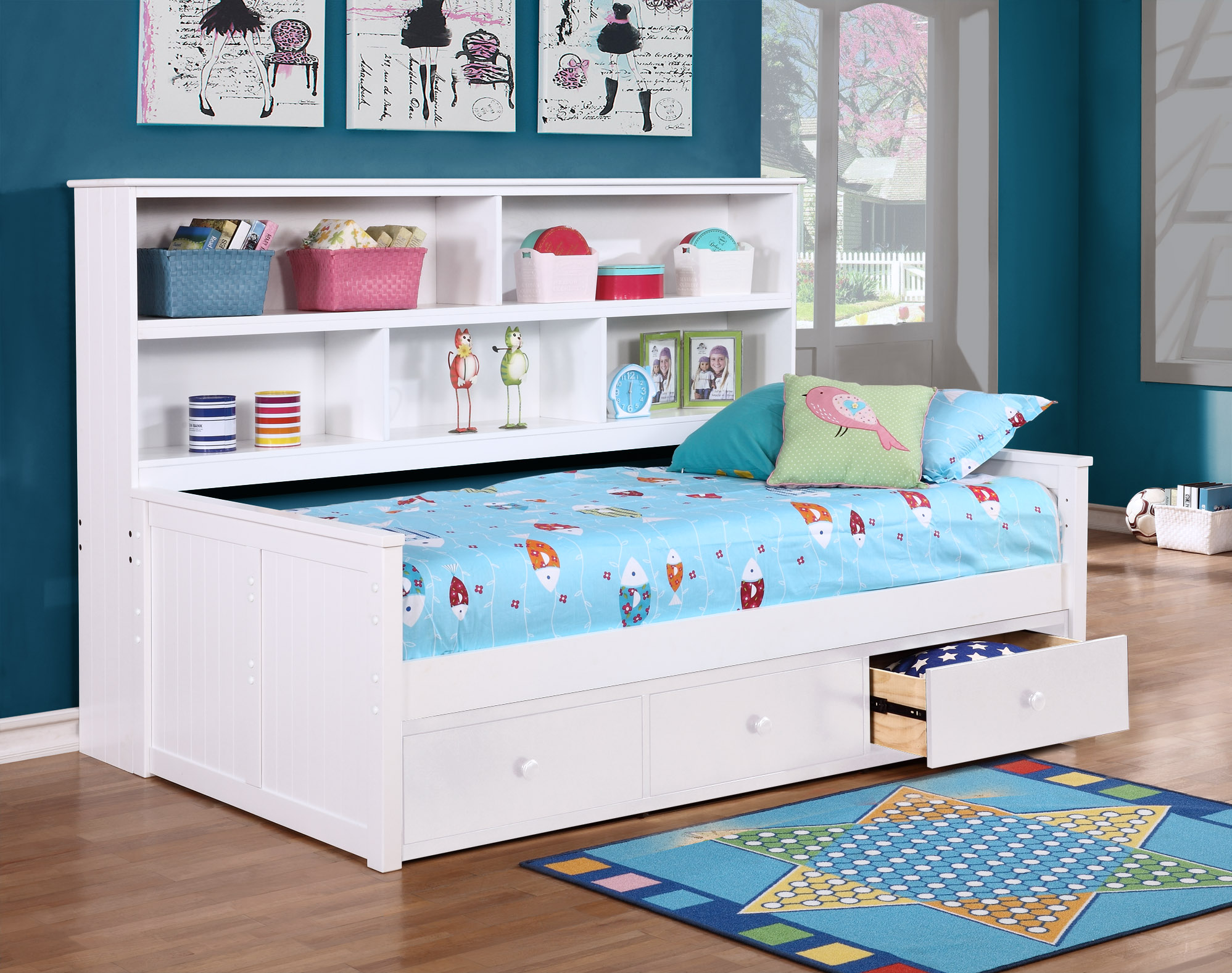 Twin Size Bookcase Lounge Bed