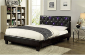 Aza Contemporary Leatherette Bed in Espresso