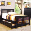 Caspian Bed with Trundle in Black