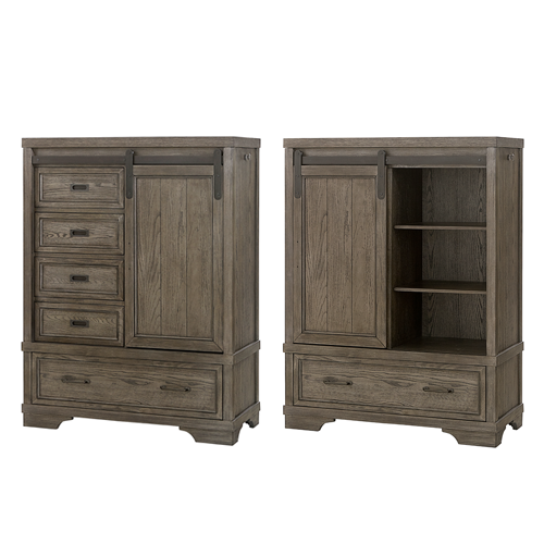 Country Hill Chifferobe in Brushed Pewter