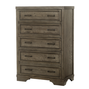 Country Hill Collection Chest of Drawers in Brushed Pewter