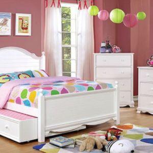 Dani Full Size Bed with Trundle in White