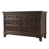 Maine 6 Drawer Double Dresser in Chocolate