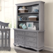 Meadow Double Dresser with Hutch in Cloud