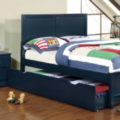 Prisma Twin Size Bed in Trundle in Blue