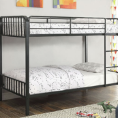 San Clemente Twin over Twin Bunk Bed in Black