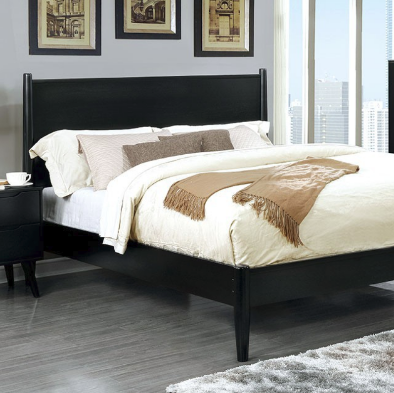 Skylar Panel Platform Bed White Black Gray Amp Oak