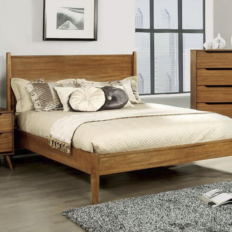 Skylar Panel Platform Bed White Black Gray Amp Oak