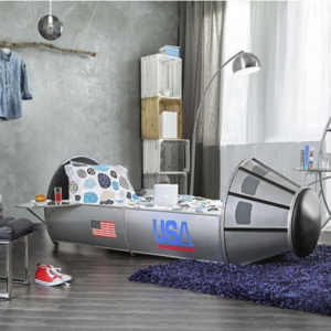 Space Shuttle Bed in Silver - Room Photo