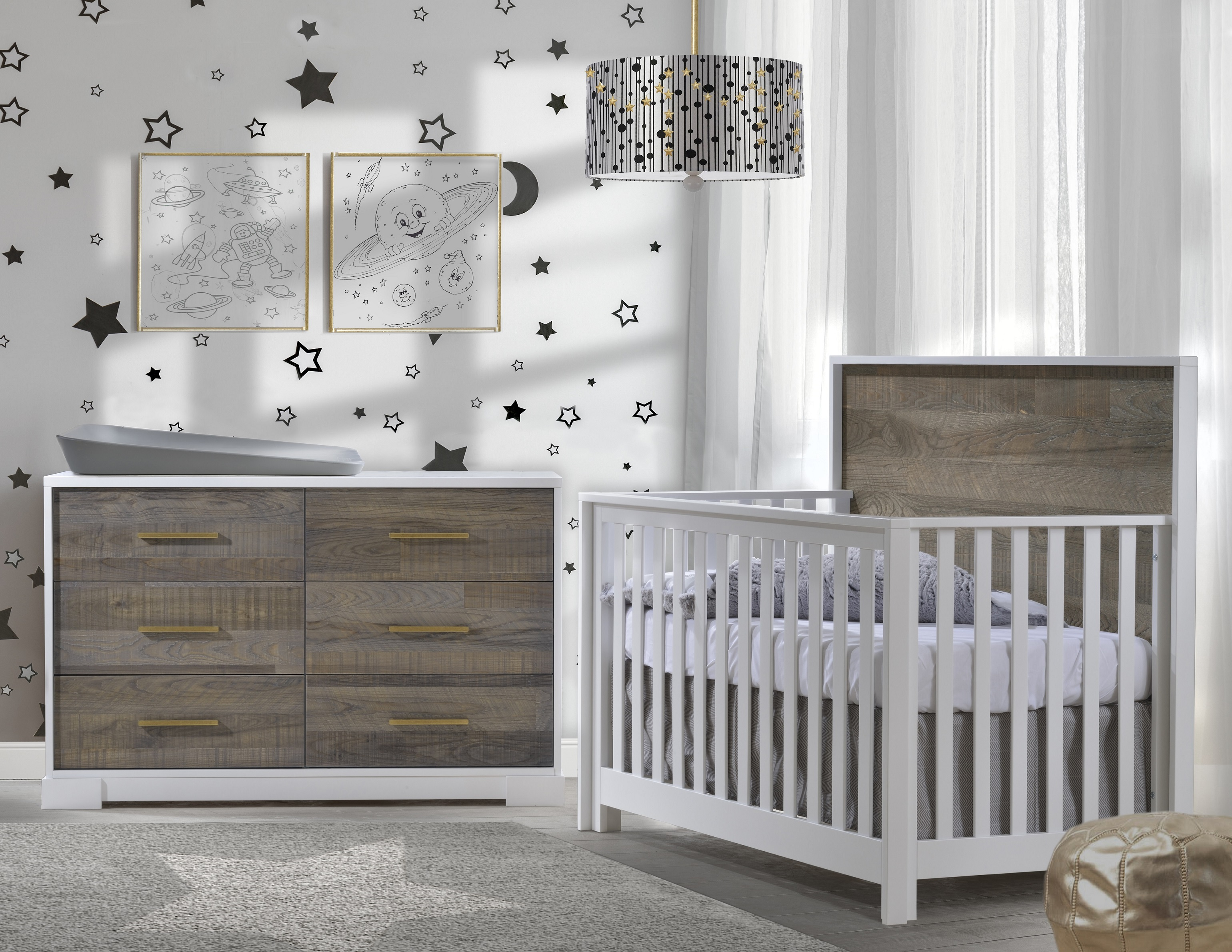 and pure grey products oslo drawers tone convertible crib with karla white dubois in