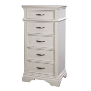Kerri 5 Drawer Pier Chest in Rustic White
