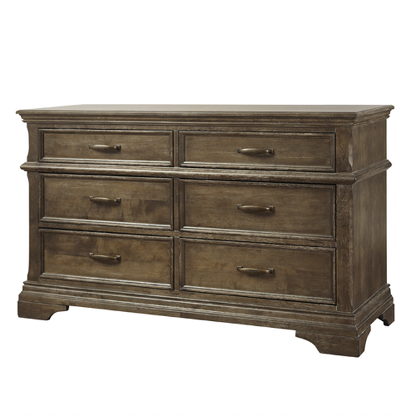 Where To Buy Cafe Kid Furniture: Kerri 6 Drawer Double Dresser (Cafe Au Lait & Rustic White