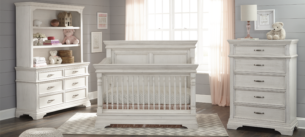 Kerri 4 In 1 Convertible Crib Rustic White