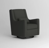 Kinny Swivel Glider with Lizzy Graphite with Lizzy Linen